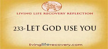 Let God Use You