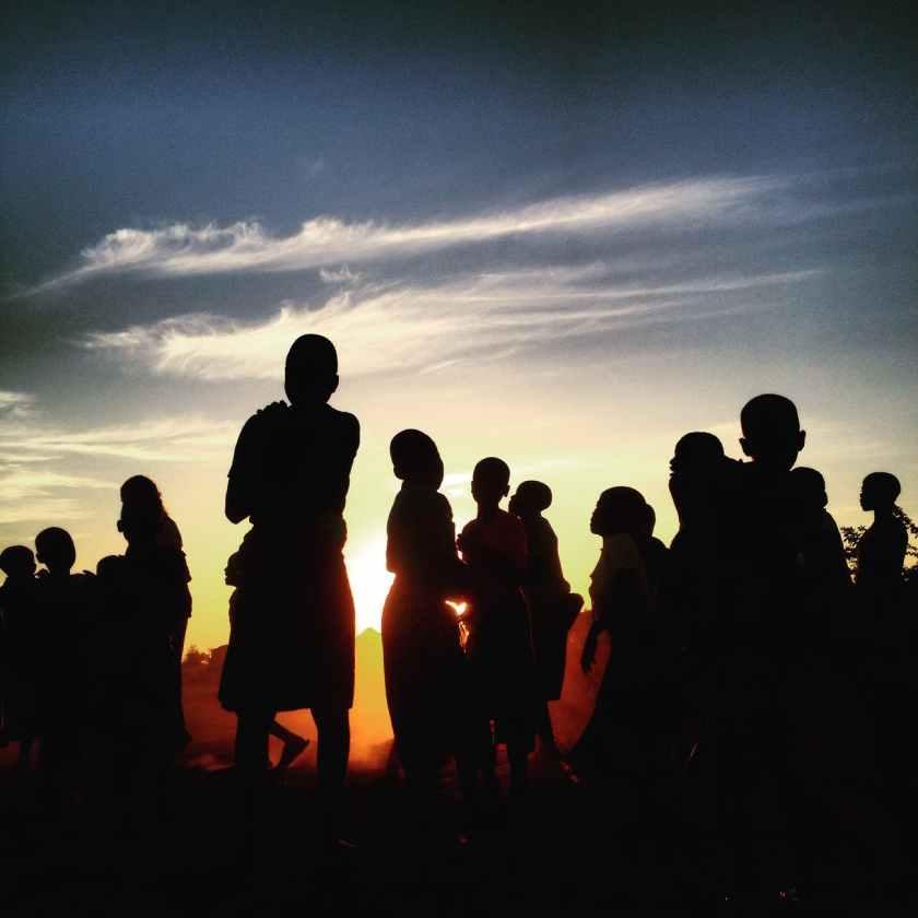 people sunset clouds sky